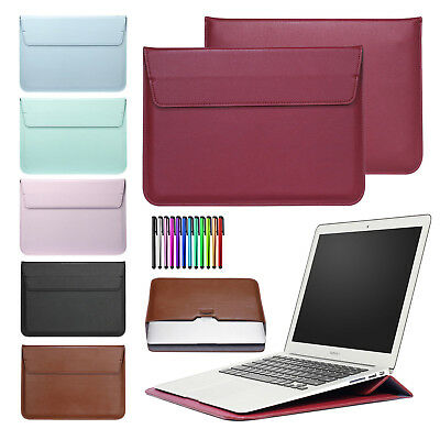 """For MacBook Air/Pro/Retina 11""""12""""13""""15"""" Slim Leather Pouch Sleeve Bag Case Cover"""