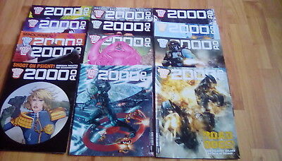21 issues 2000AD comics - Prog #1991 to Prog #2011 + comic book day issue