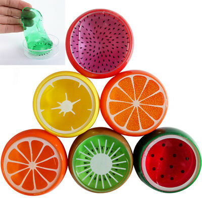 Creative Fruit Crystal Clay Putty Jelly Slime Plasticine Mud Educational Toy