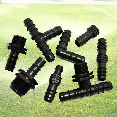 Agricultural Garden Micro Irrigation Watering System Connectors For 16mm OD Pipe