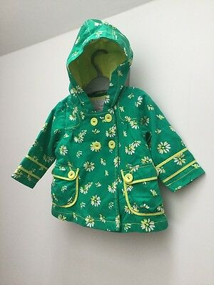 Next Nwt Baby girls coat Green Flowers Floral Yellow Stunning 9-12m