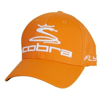 COBRA PRO TOUR FLY Z Strech Flexfit Cap Basecap Orange/Weiß S/M L/XL