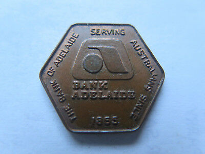 1974 THE BANK of ADELAIDE TOKEN from ROYAL ADELAIDE SHOW 1865 to 1974