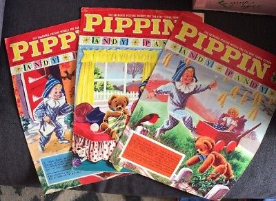 3 x Pippin Comics With Andy Pandy Covers 1970's