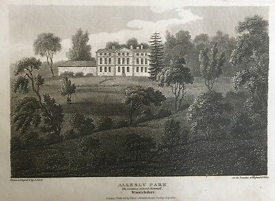 1810 Antique Print; Allesley Park, near Coventry, Warwickshire after Storer