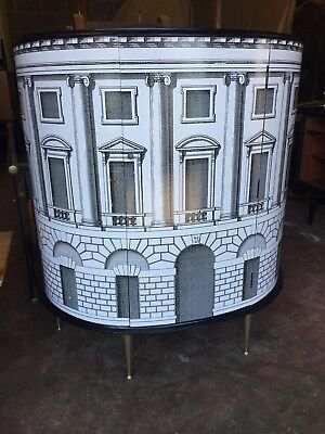 vintage sideboard credenza cabinet Fornasetti style italian 1950s 60s  buffet