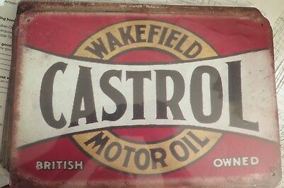 wakefield castrol motor oil tin sign Mancave Signs for the shed