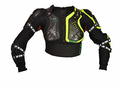 moto enfants vest de protection XTRM CORPS ARMOR Quad MX cross mtb CE Noir HiVIZ