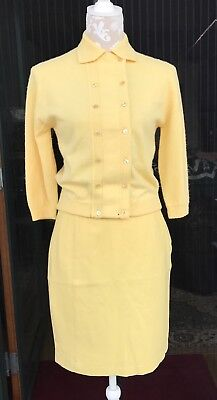 Vintage Set  Sweater by Lofties & Skirt by Copeland  Yellow
