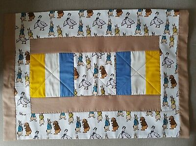 Peter Rabbit Patchwork Cot / Cotbed size Pillowcase Handmade with Love ♡