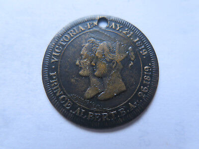 1842 MEDALET ISSUED to COMMEMORATE QUEEN VICTORIA & PRINCE ALBERT VISIT SCOTLAND