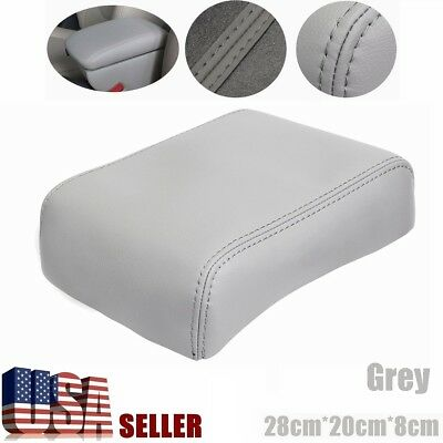 Grey PU Leather Armrest Center Console Lid Cover NEW For Toyota Tacoma 2007-2013