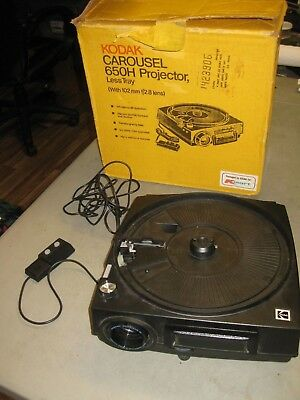 Kodak Carousel 650H Slide Projector =AS IS , PARTS OR REPAIR ONLY=