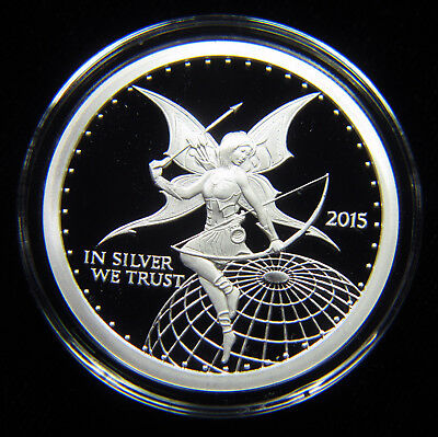 LIMITED MINTAGE OF ONLY 10,000 2015 SILVERBUG ARCHER 1 OZ SILVER PROOF ROUND