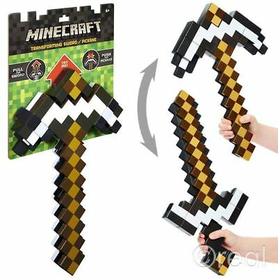New Minecraft 2 In 1 Transforming White Sword To Pickaxe Mojang Official