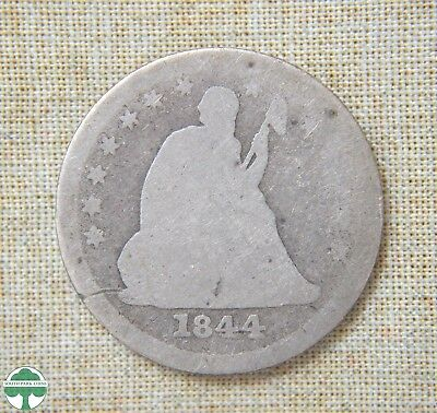 1844-O Liberty Seated Quarter - About Good Details