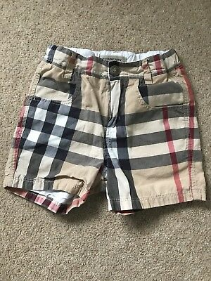 Burberry Baby Boys Shorts In Orginal Check 18 Months