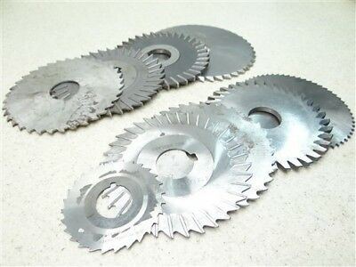"""9 Assorted Hss Milling Cutters 1/32"""" To 3/16"""" W/ 7/8"""" & 1"""" Bores Brown & Sharp"""