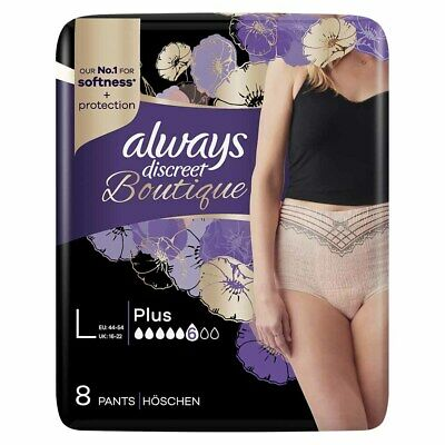 Always Discreet Boutique - Incontinence Pants - Peach - Large - Pack of 8