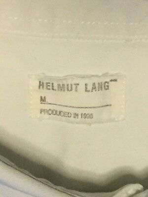 Helmut Lang produced in 1998 Camicia Bianca Taglia 48 Vintage