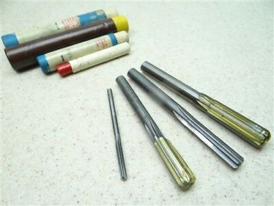 """Mixed Lot Of 4 Solid Carbide Chucking Reamers 1/8"""", 19/64"""", 5/16"""" & .3780"""""""
