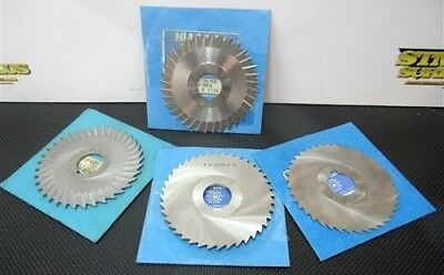 "Lot Of 4 Straight Toothed/concave Side Slitting Saws 4"" W/1"" Bores Niagara"