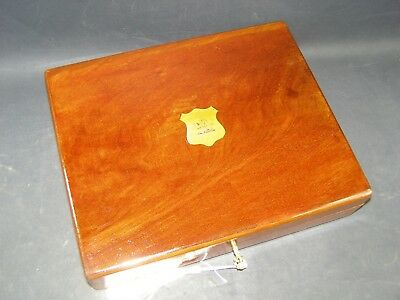 Antique Mahogany Box Working Lock & Key 1890 Keep Your Kindle Or Tablet Safe