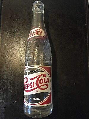 Rare, vintage ,Pepsi Cola ,1952 ,Art Deco ACL, Red and white Bottle,Dyersburg TN