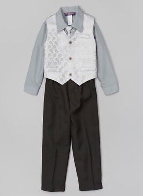 New With Tags, Mr. Saturday Night Steel Grey, 4 Piece Suit, Size 2T