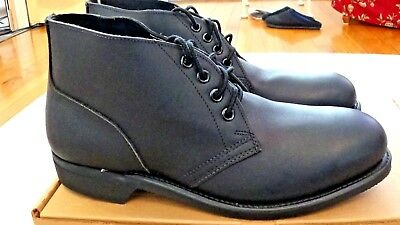 NEW! w/box  Craddock-Terry Military 1995 Black Leather Men's Chukka Boots- 8.5R