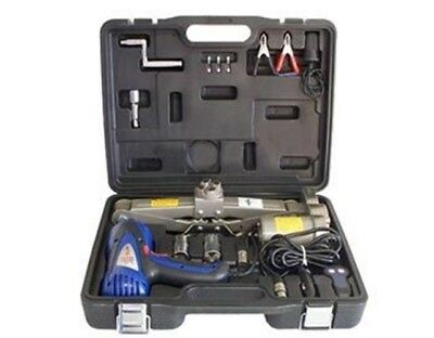 12V Volt Power Car Auto Truck Tire Changing Jack Impact Wrench Tool Kit Set