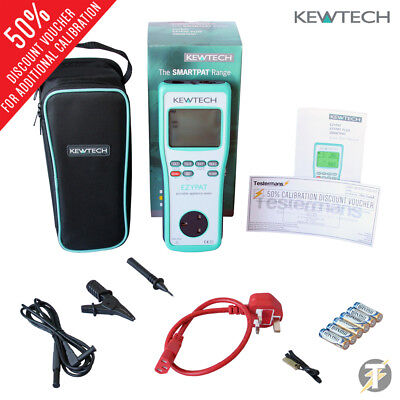 Kewtech EZYPAT battery operated PAT Tester with Case and Calibrated