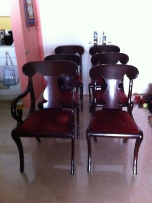 Empire Style Dining Room Chairs (Set of Six)