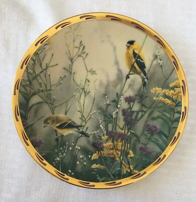 LENOX Golden Splendor by Catherine McClung 1992 Collector Plate - Yellow birds