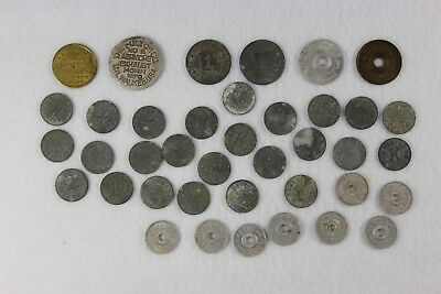 Lot of 37 Vintage Sales Tax Tokens - Kansas / Oklahoma / Missouri +2