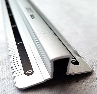 Jakar 12 Inch 30 cm Aluminium Ruler Raised Finger Grip Bar Metric & Imperial
