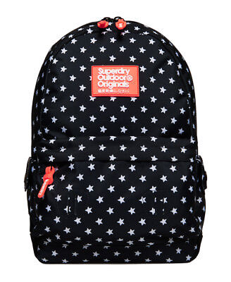 New Womens Superdry Print Edition Montana Rucksack Navy Star