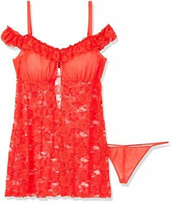 Softline Collection oversize Chemise Veronica, G-string incluso, colore: rosso,