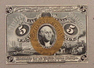1863 Fr. 1232SP 5¢ Fractional Currency Front Specimen Choice Uncirculated