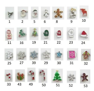 CHRISTMAS Floating Charm for Glass Memory Locket