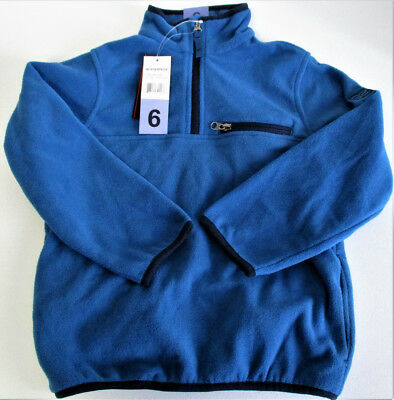 Boys Weatherproof 32 Degrees Heat Fleece 1/4 Zip Pullover Jacket Blue Size: 6