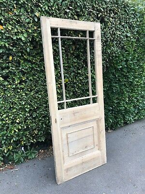 Reclaimed Victorian stripped pine 9 panel door 2045x832x46