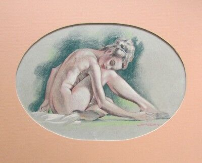 KELLY FREAS DRAWING WOMAN MODEL POSING s