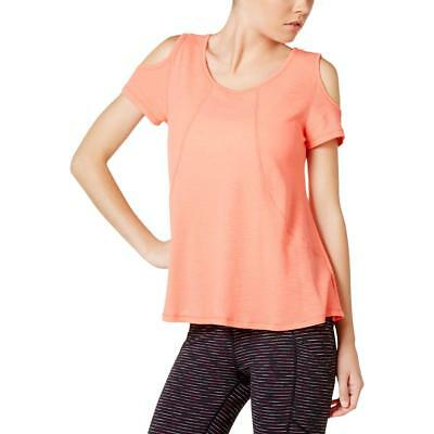 Calvin Klein Performance 2524 Womens Orange Yoga Pullover Top Athletic S BHFO