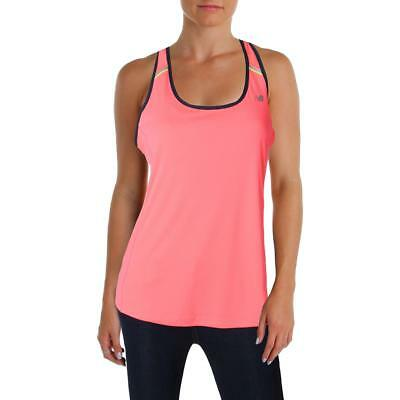 New Balance 5755 Womens Pink Fitness Yoga Racerback Tank Top Athletic XL BHFO