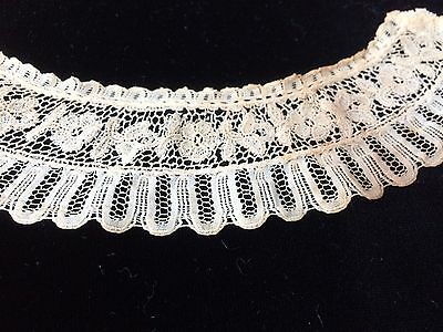 Antique Lace Trim Edging Cutter Salvage Costume Studio Craft French Dolls Doll