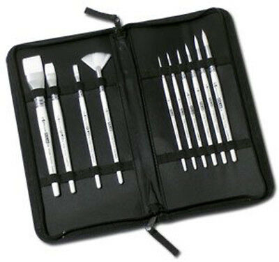 Pro Arte Polar Brush Set in zip storage case for water colour oil acrylic ink