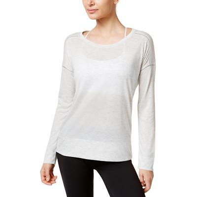Calvin Klein Performance 0039 Womens Gray Scoop Neck Shirts & Tops XS BHFO