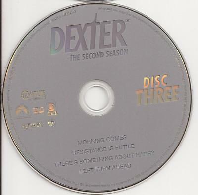 Dexter (DVD) Showtime Season 2 Disc 3 Replacement Disc U.S. Issue!