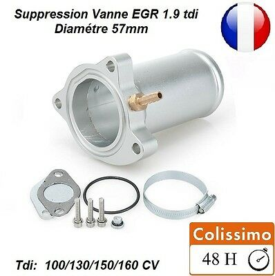 KIT SUPPRESSION VANNE EGR COMPATIBLE TUNING SEAT IBIZA 1.9 TDI 160 CUPRA Ø57mm